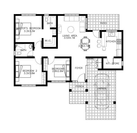 3 Bedroom Floor Plan In Philippines 3 bedroom bungalow house plans in the philippines best of