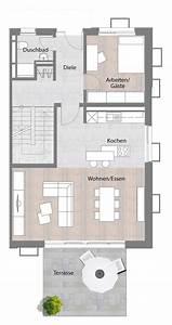 Haus Grundrisse Beispiele : doppelhaush lfte typ b erdgeschoss mit terrasse 73 60 m haus und grundriss pinterest ~ Frokenaadalensverden.com Haus und Dekorationen