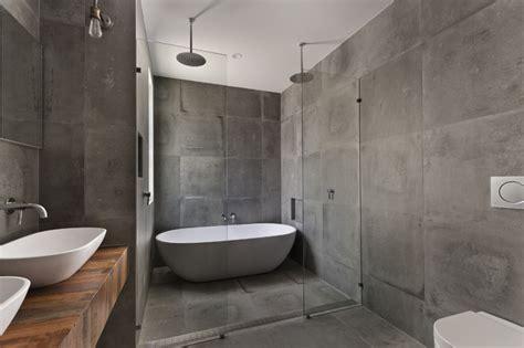 custom concrete tile shower encinitas ca industrial bathroom san diego by san diego