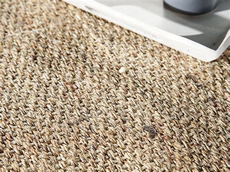 tapis sisal avec ganse en coton bayview chocolat
