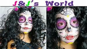 Maquillage Halloween Enfant Facile : halloween maquillage facile sugar skull dia de los ~ Nature-et-papiers.com Idées de Décoration