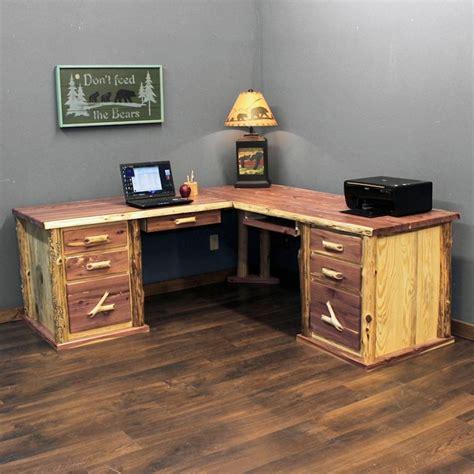 rustic l shaped computer desk rustic l shaped computer desk