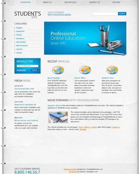 education website template   choice