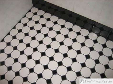 black and white tiles black and white small bathroom ideas