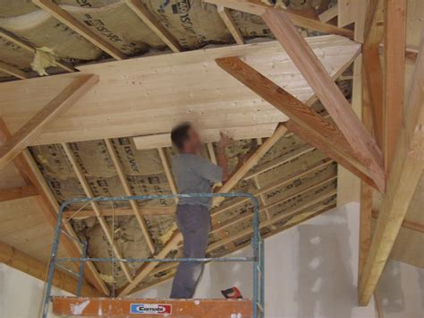 lambris bois pour plafond inspiration du