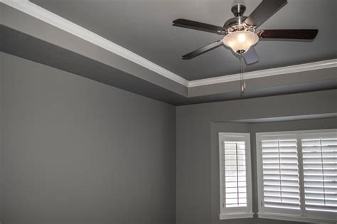 Tray Ceiling With Crown Molding  Traditional Bedroom