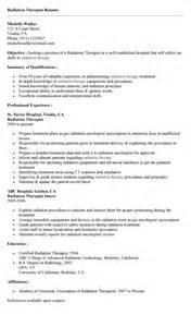 Radiation Therapist Resume Examples