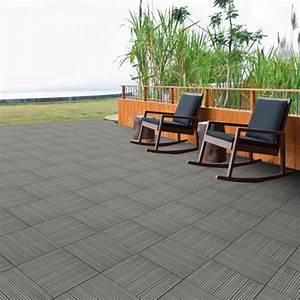 Dalles Beton Terrasse : dalle terrasse composite clipsable gris 30 x 30 cm ~ Melissatoandfro.com Idées de Décoration