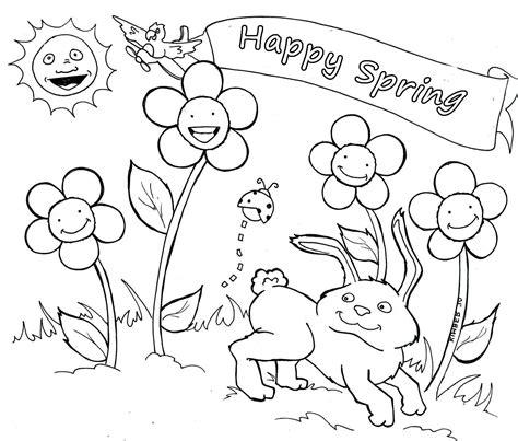 Spring Break Coloring Sheets For Kindergarten Gulfmik