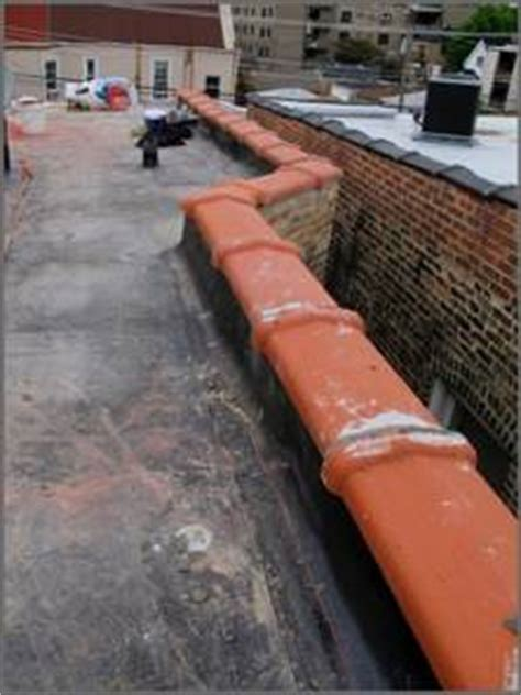 roof coping replacement installation clay tile