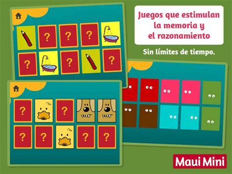 Maui Mini Juegos Educativos Para Niños Pequeños