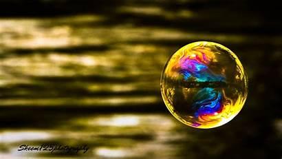 Bubble Reflection Water Liquid Bubbles Sphere Macro