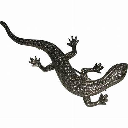 Lizard Reptile Metal Era Deco Rhinestone 1930s