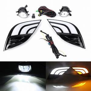 Car Led Drl Turn Signal Lamp Fog Light Wiring Kit For Toyota Camry Se Xse 2018
