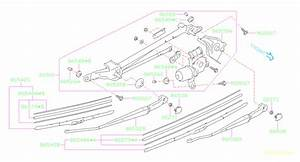 Subaru Legacy Windshield Wiper Linkage Bushing  Collar