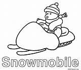 Coloring Pages Ski Doo Snowmobile Drawing Snowmobiles Skidoo Cat Arctic Sketch Getdrawings Coloringhome sketch template