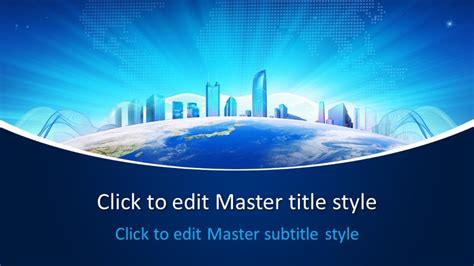 Free Business World PowerPoint Template - Free PowerPoint ...