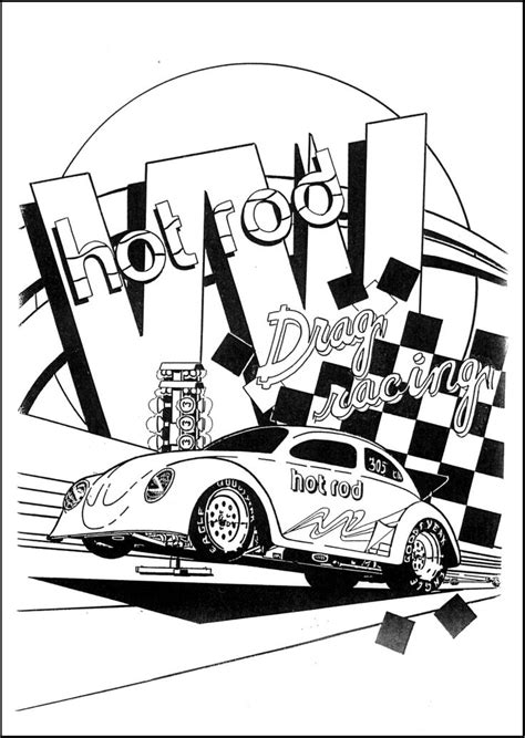 Kleurplaat Hotrod by 61 Best Images About Coloring Rod On Cars