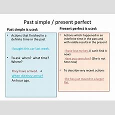 Past Simplepresentperfect