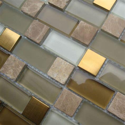 glass tile backsplash designs gold stainless steel