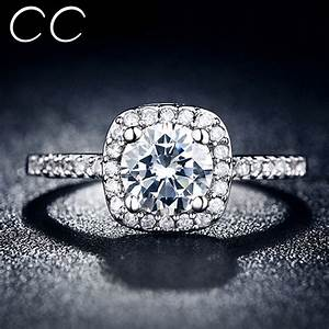 cc jewelry midi finger square ring engagement wedding With bague