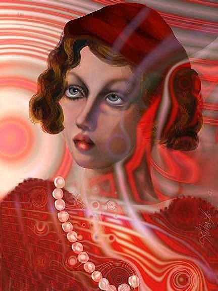 candy cane girl  alma lee  digital
