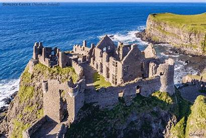 Castles Ruined British Come Castle Ireland Dunluce
