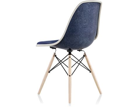 eames 174 upholstered side chair with dowel base hivemodern