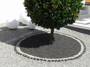 beautiful idee deco jardin gravier contemporary awesome With decoration jardin exterieur maison 16 idee deco entree noir et blanc