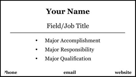Basic Mini Resume (10 Per Page) Template