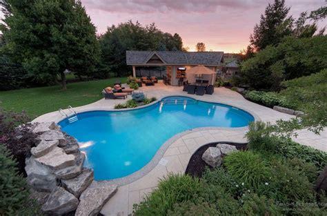 Wood Deck Around Inground Pool