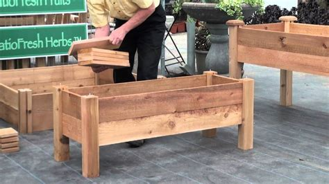 build  simple elevated garden bed  louis damm