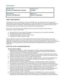 assistant description duties sle administrative assistant description 8 exles in pdf word