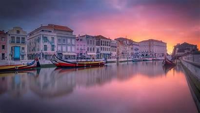 Travel Aveiro Canal Portugal Dawn Boat River