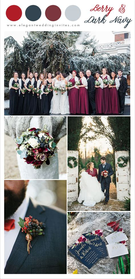 7 Pretty Winter Wedding Color Ideas with Christmas Festive