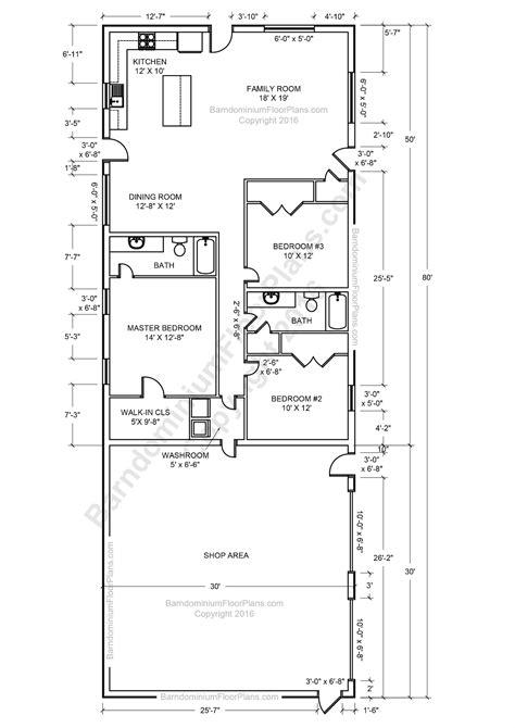 barndominium floor plans   type size picture small dwellings shop