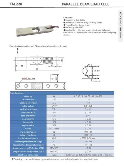 load cell 10kg bar tal220 australia