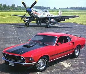 File:1969 Ford Mustang Mach 1 SportsRoof 428 Cobra Je t w P 51 Mustang Fighter Red Frt Qtr.jpg ...