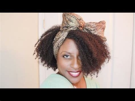 hair scarf bow  natural hair whitney houston inspired youtube