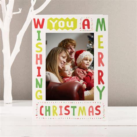 photo upload card wishing you a merry christmas gettingpersonal co uk