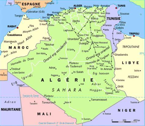 Carte Sat Algerie by Alg 233 Rie Carte Politique