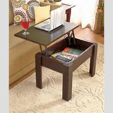 New Lift Top Wood Coffee Table Hidden Storage Modern