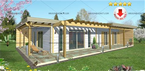 tarif maison bois kit contemporaine