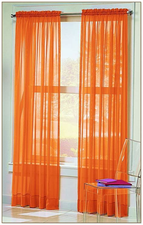 white  orange curtains
