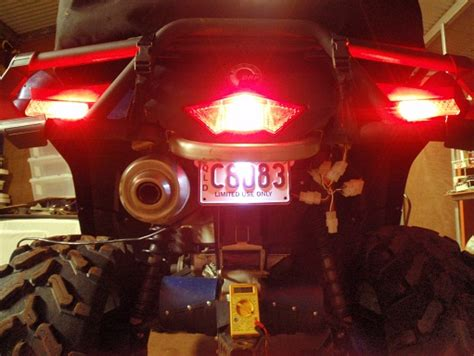 can am outlander tail light turn signals brake lights help outlander discussion
