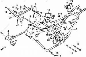 Honda Motorcycle 1986 Oem Parts Diagram For Frame