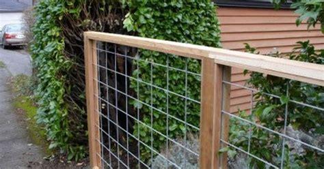 Wire Mesh & Wood Frame Fence. Galvanized Rigid Metal