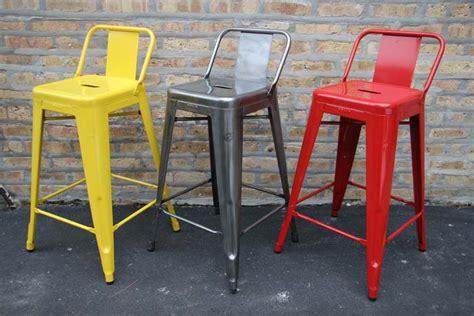 chaise haute tolix tolix tabouret stool with back