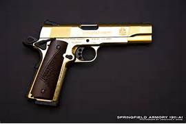 Real Gold Guns 1 of 2000 limited guns sold  Real Golden Guns