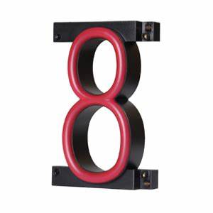 Neon like Numbers For Custom Sign Number Eight